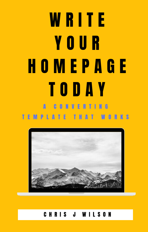 book cover for write your homepage today